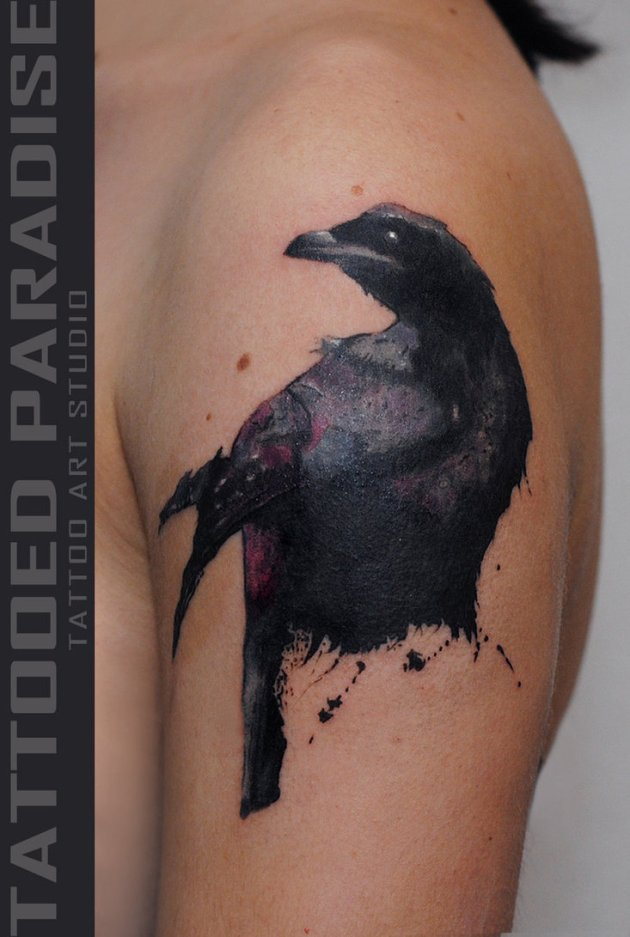 Awesome Crow Tattoo