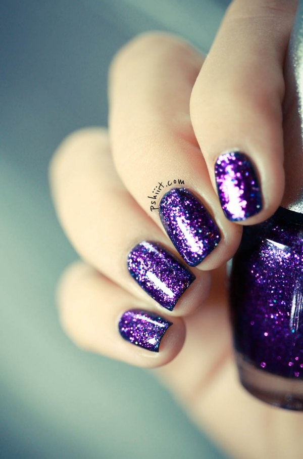 sparkling shinning nail polish designs