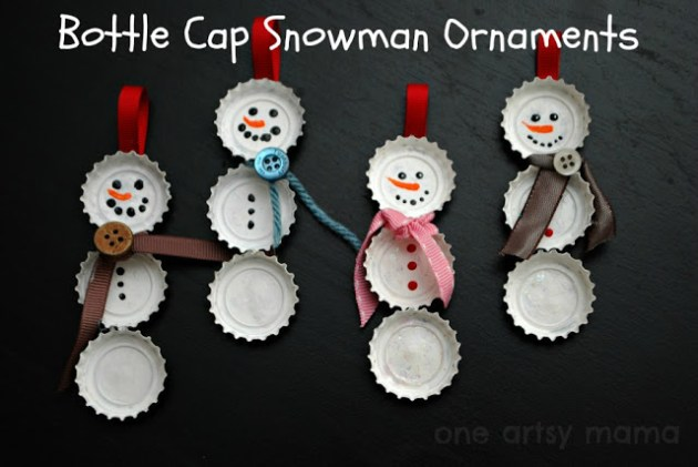 bottle-cap-snowman
