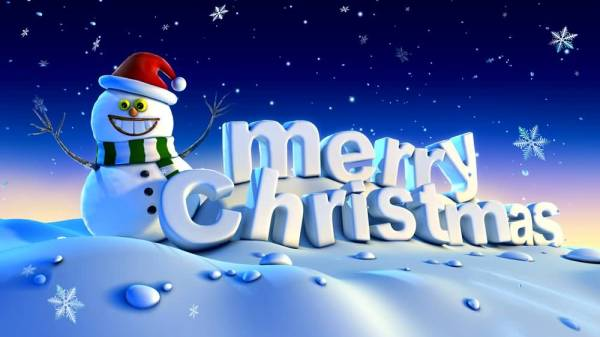 Merry Christmas Snowman Wallpaper Free