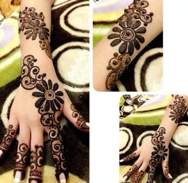 Thick Mehndi Art