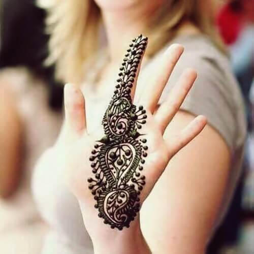 bail mehndi design
