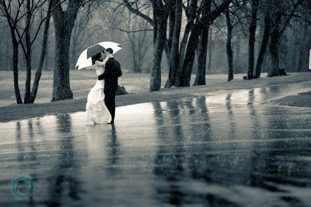 Wedding Romance In Rain