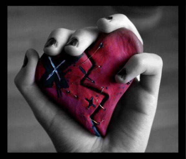 broken heart background image
