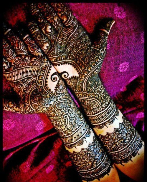 Arabic Mehndi Design For Bides hands