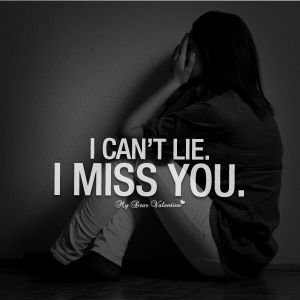 i can't lie i miss you