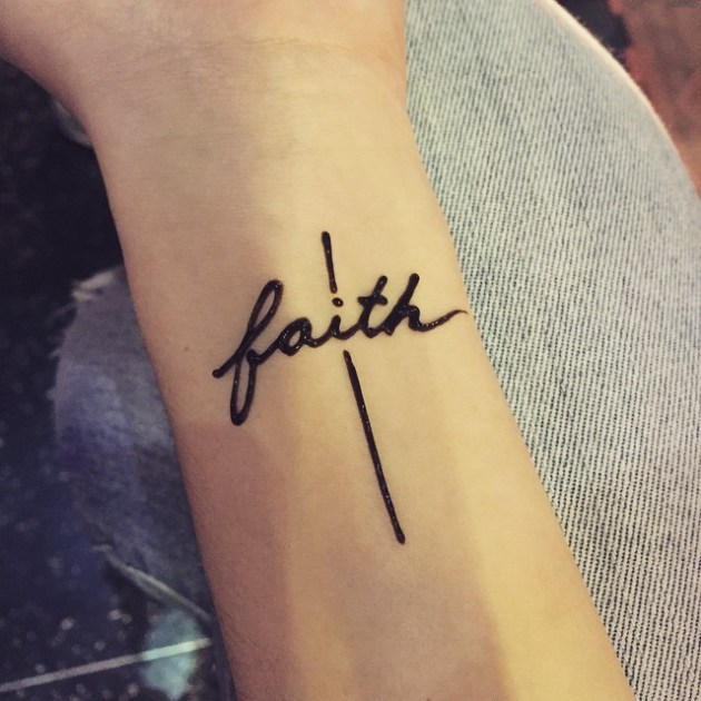 Have faith cross tattoo design