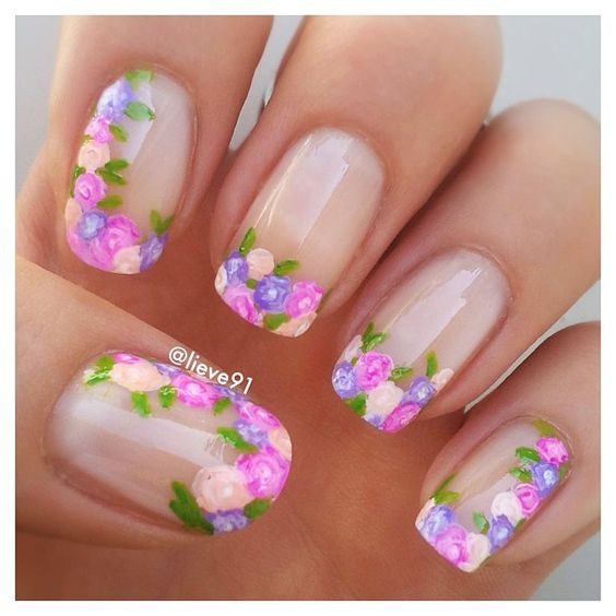 Spring Nail Art: 30 Light Color Spring Nail Art Designs For 2017