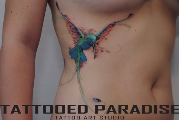 hummingbird tattoo watercolor