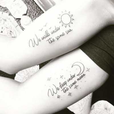 best friends quote tattoo designs
