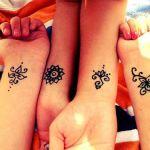 cute small henna tattoo patterns