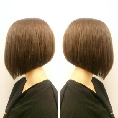 short angled bob haircut