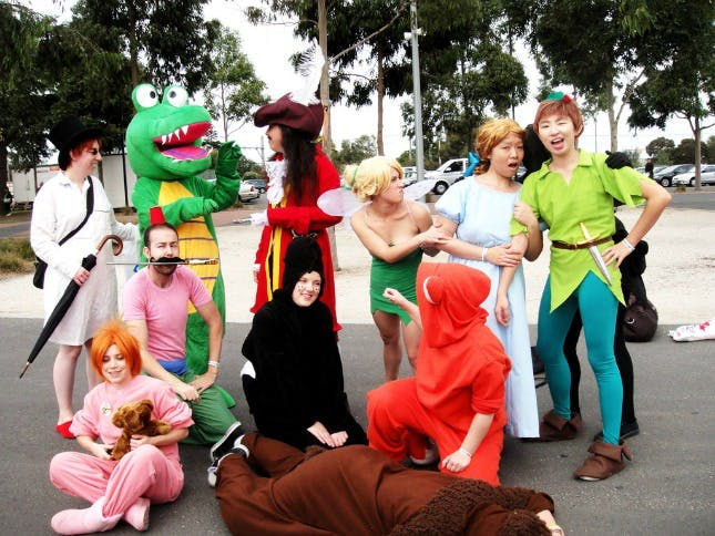cosplay peter pan group halloween costumes