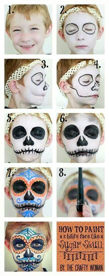 Arrogant face paint for kid