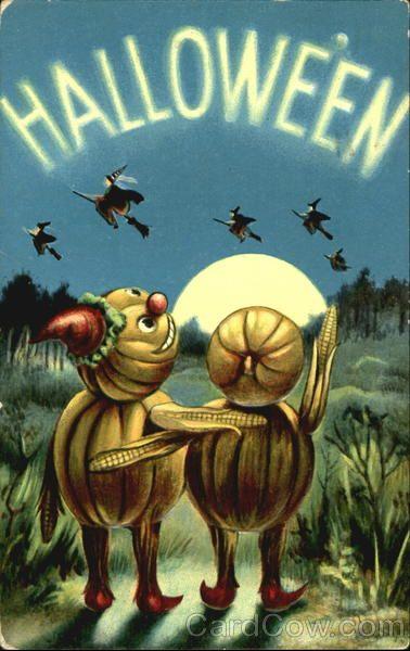 Halloween vintage art postcards