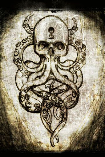 Octopus Skull tattoo design drawing