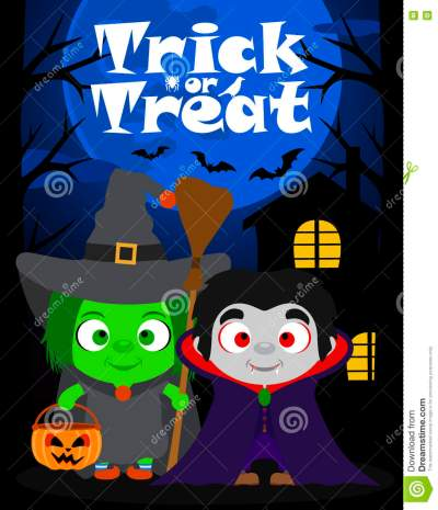 halloween-background-trick-treating-children-vector-costume