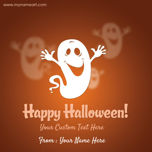 Happy halloween greeting wishes card with custom text happy halloween greeting wishes card with custom text m4hsunfo