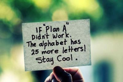 if plan a didn't work quote