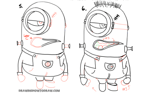 How to draw scary minion?