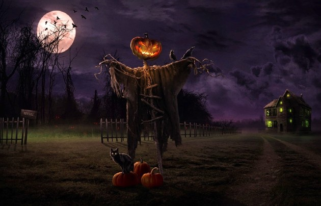 scarecrow-pumpkin-halloween-full-moon-night-image-HD