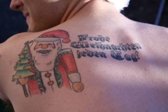 Santa Claus tattoos