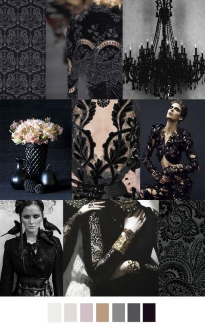 fall winter 2017-2018 colors trends patterns - Black Brocade