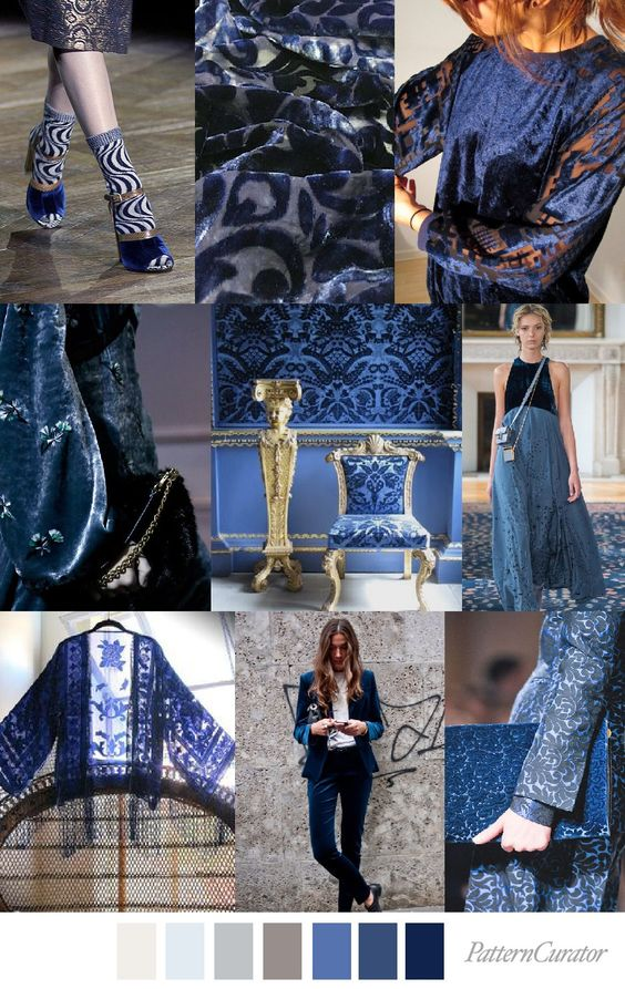fall winter 2017-2018 colors trends patterns - Blue Velvet
