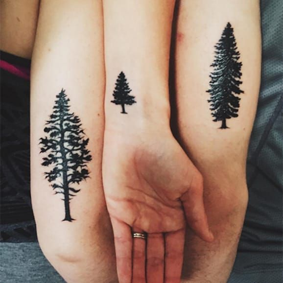 pine tree tattoo | EntertainmentMesh