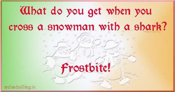 Christmas jokes on Snowman