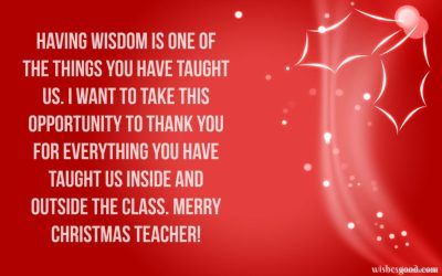 Download Christmas Wishes for Teacher