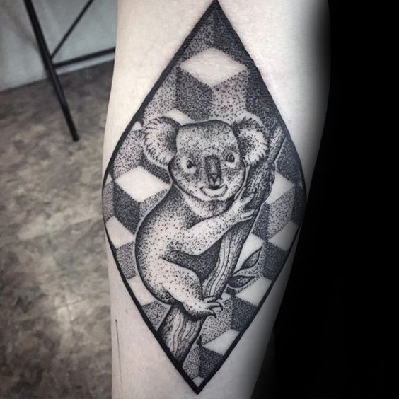koala bear tattoo entertainmentmesh rh entertainmentmesh com koala bear tattoo ideas koala bear tattoo ideas