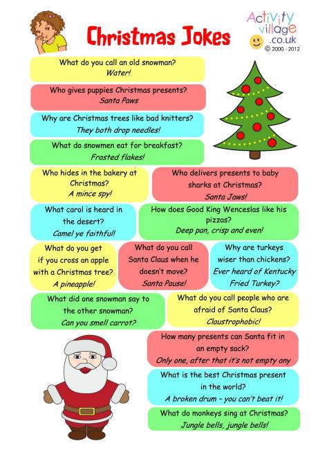 Santa Jokes In English