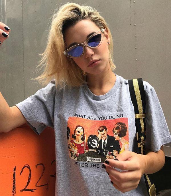 girl with stylish sunglasses