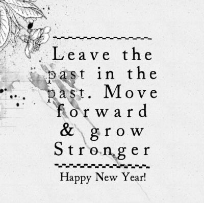 new year and the past quotes picture
