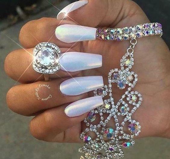 Icy nail art