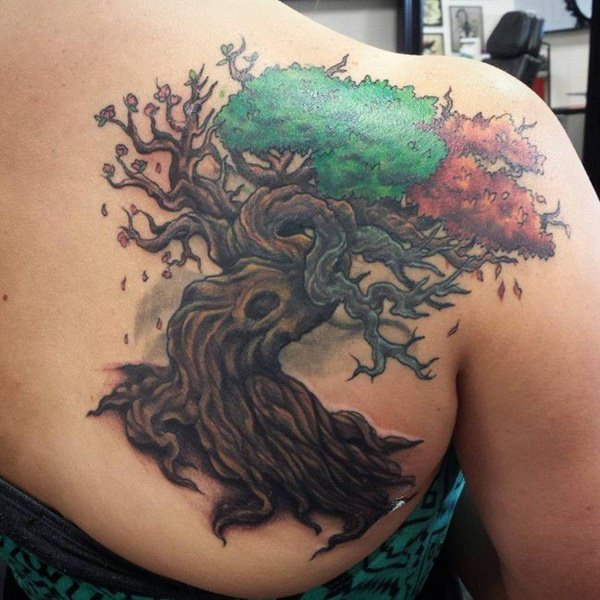 Strength in tree of life tattoos