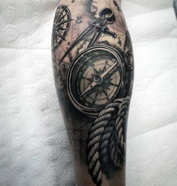 traditional nautical tattoo sleeve