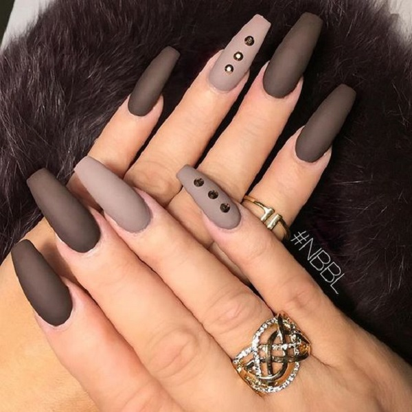25 Cute Long Coffin Nail Designs | EntertainmentMesh