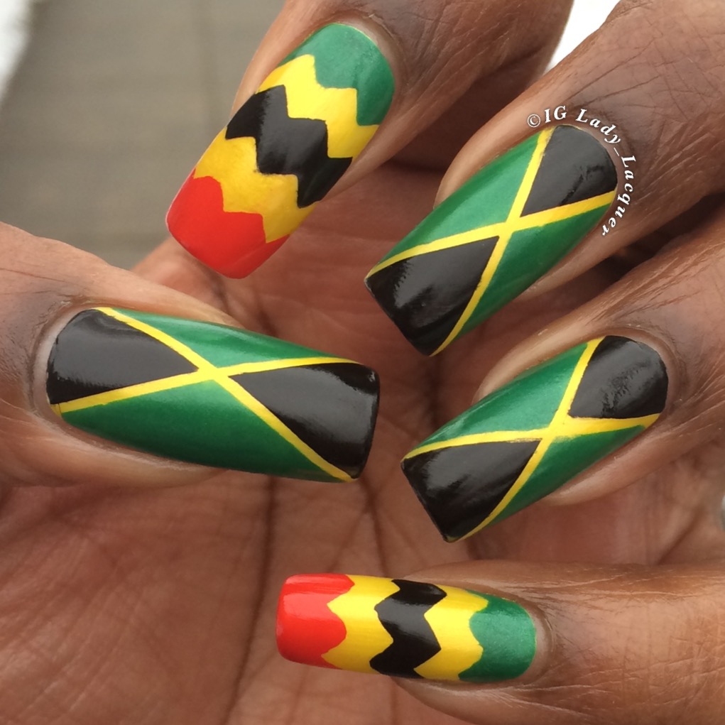 jamaican flag nails | EntertainmentMesh