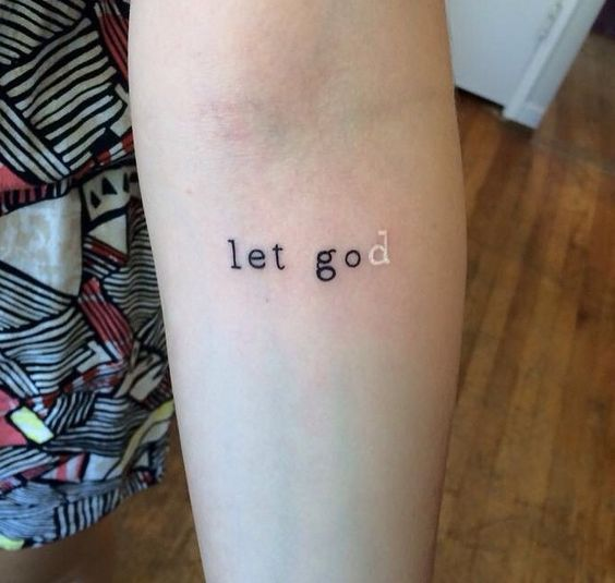 let god tattoo