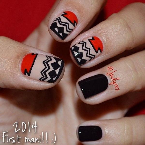 4 Wonderful Designs Of Tribal Nail Art Entertainmentmesh