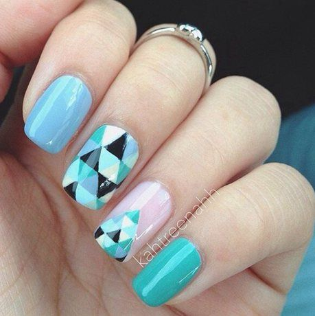 3 triangular nail design