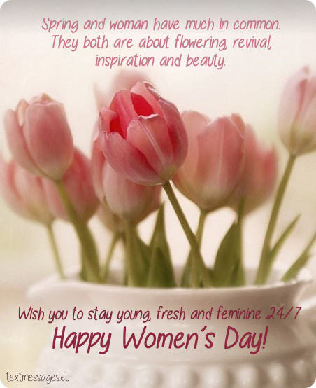 Happy Women's Day Flowers Greetings images