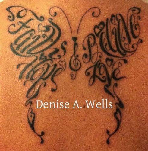 faith hope love believe butterfly tattoo