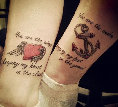 heart and anchor tattoo