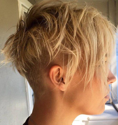 Chopped Undercut Pixie hairstyle