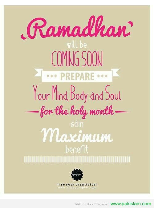 ramadhan will be coming soon