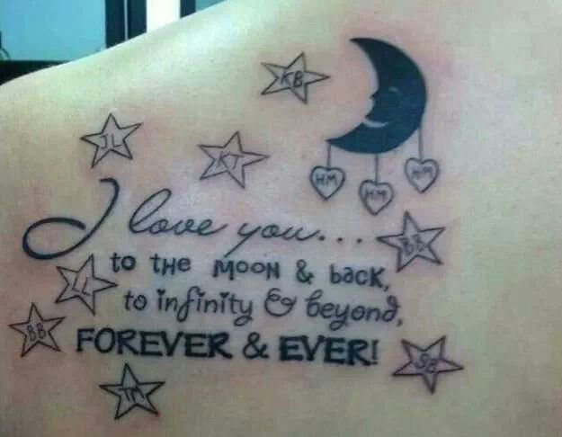 To Infinity And Beyond Quote Tattoo On Back Entertainmentmesh