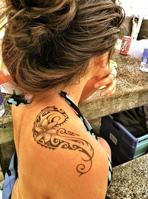 Tribal Flower Tattoo On Shoulder Entertainmentmesh